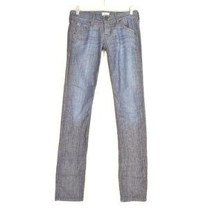 Hudson jeans 25 x 32 Collin Skinny flap back pocke